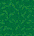 Seamless pattern with leaves green background vector image