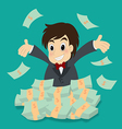 businessman with money vector image vector image