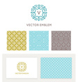 set of graphic design elements and logo design vector image vector image