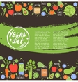 Vegan diet healthy food background vector image