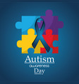 autism awareness day poster medical help vector image