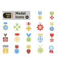 Award and medal icons vector image