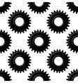 Black seamless gears or cogwheels pattern vector image