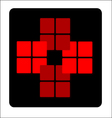 Business Logo - 16 Squares vector image