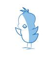 cartoon little chicken bird farm animal image vector image