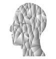 gray gradient geometric head vector image