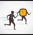 men compete to time vector image