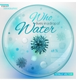 01 Water Virus infographic vector image