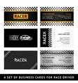 Business card driver race - first set vector image vector image