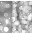 silver blurred lights and stars vector image vector image