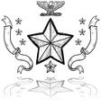 doodle us military insignia army vector image vector image