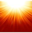 Sunburst rays of sunlight tenplate EPS 8 vector image vector image