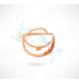 Woman bag grunge icon vector image vector image