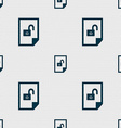 file unlocked icon sign Seamless abstract vector image
