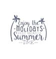 Summer Holidays Black And White Vintage Emblem vector image vector image