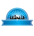 City seal vector image vector image
