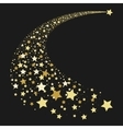 Abstract gold falling star vector image