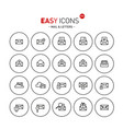 Easy icons 04b mail vector image