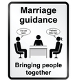 Marriage Guidance Information Sign vector image