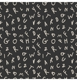 Modern seamless pattern letters vector image