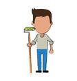 painter worker avatar vector image
