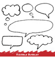 Scribble speech and thought bubbles vector image