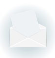 white open envelope with paper card - vector image