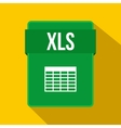 XLS file icon flat style vector image