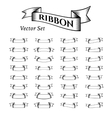 Ribbons in Vintage Style vector image vector image