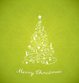 Christmas tree created of Christmas simple vector image