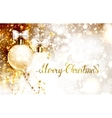 Xmas evening balls with bows and golden garlands vector image vector image