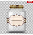 Glass Jar for canning with label vector image