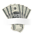 dollars on a white background for design vector image vector image