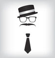 Hipster with tie and glasses vector image