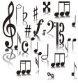 musical signs vector image vector image