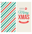 christmas card pattern vector image vector image