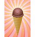 chocolate icecream cone vector image