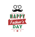 Happy fathers day vintage retro type font vector image