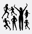 Girl and kid activity silhouette vector image vector image