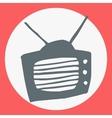 Cartoon flat simple tv icon vector image