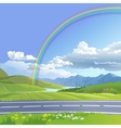 a hilly landscape vector image