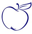 apple shape vector image