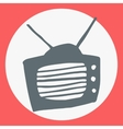 Cartoon flat simple tv icon vector image