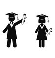 graduated stick figures vector image