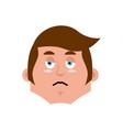 guy sad emoji boy sorrowful emotion isolated vector image