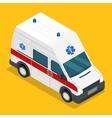 isometric ambulance carv emergency medical van vector image