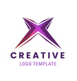 letter x logo icon design template creative logo vector image