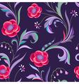pattern elegant flower night vector image