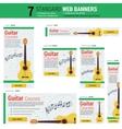 Seven web banners - Guitar Courses vector image