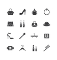 Web store icons set Shopping symbols vector image